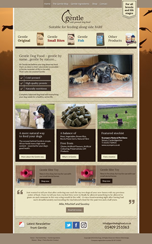 Gentle Dog Food Web Design