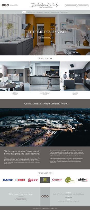 Inspired Kitchens Cambridge Web Design