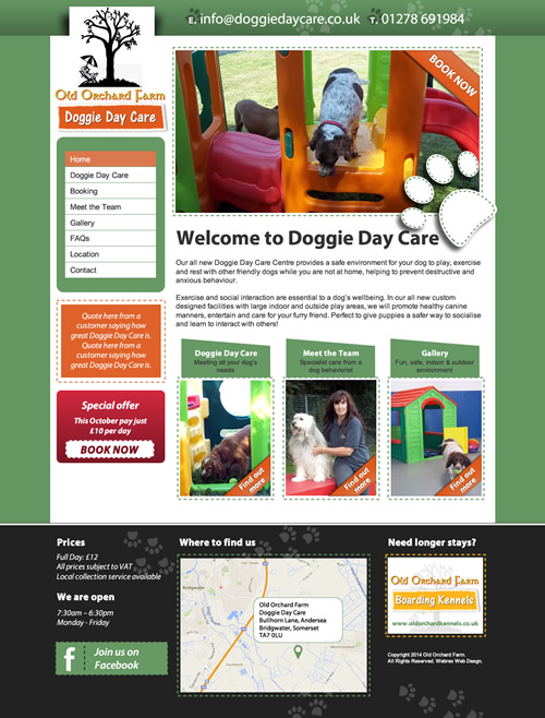 Old Orchard Kennels Web Design